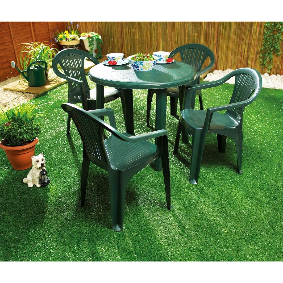 Garden Table And Chairs Green Plastic Garden Table For Home Use Backyard
