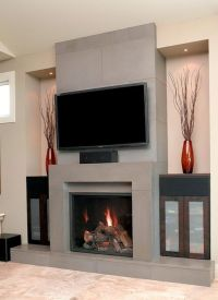 Contemporary Fireplace Designs With Tv Above Home Design ...