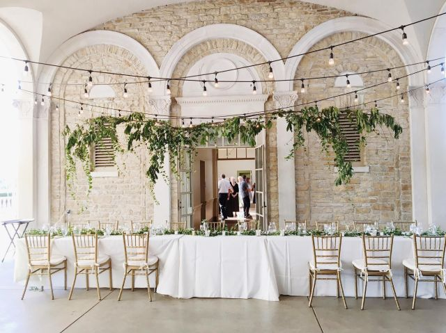Image result for greenery installations above tables