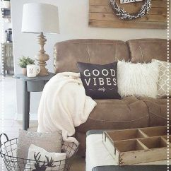 Tan Sofa Decor Cushions For Rattan And Chairs Rustic Living Room Cozy Pallets  Our Home