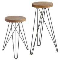Our modern/industrial Erie stoolswith their hairpin legs ...