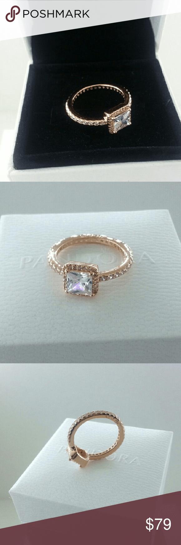 Pandora Rose Gold Timeless Elegance Ring # 6 Pandora Rose