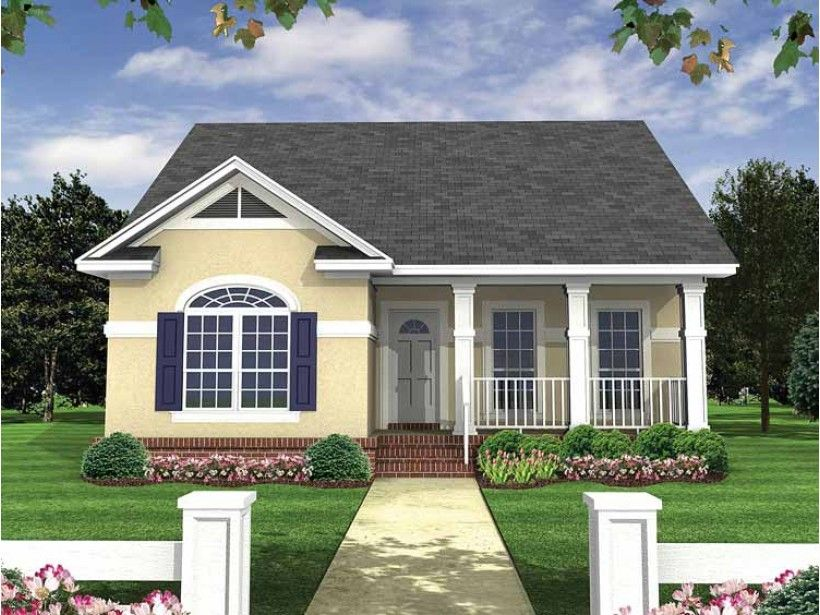 Eplans Bungalow House Plan Formal Bungalow 1100 Square Feet