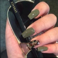 Olive Green Coffin Nails | Coffin Nails | Pinterest ...