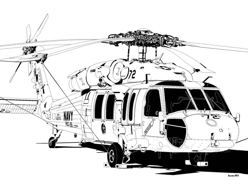 Sikorsky MH-60S Knighthawk HSC-26 Helicopter Sea Combat