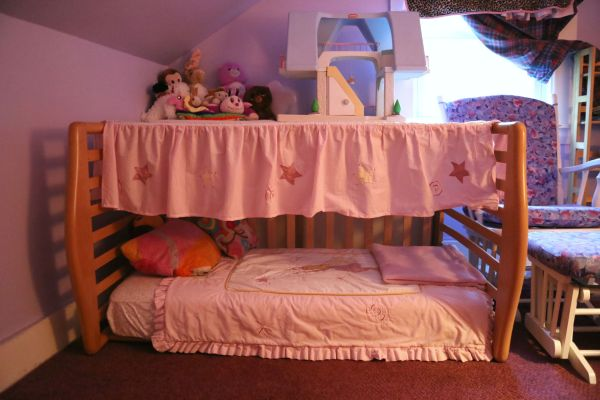 Repurposed Crib into Toddler Bed