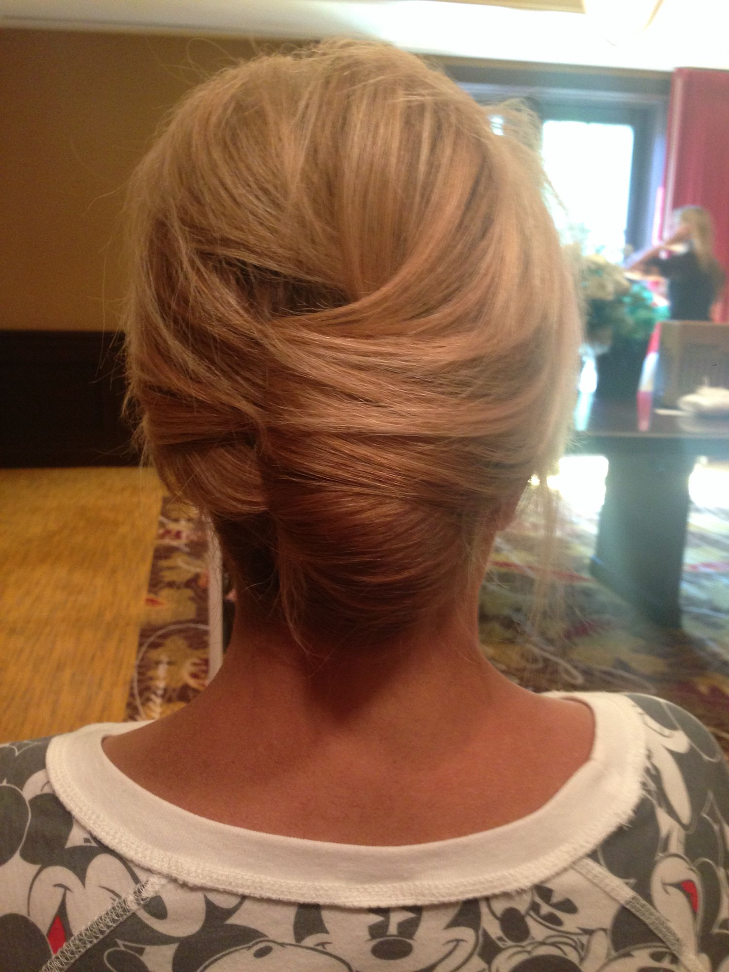 Classic French twist updobridal hairmother of the bride