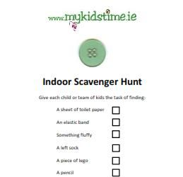 Indoor Scavenger Hunt For Kids Great For #rainydays Rainy Day