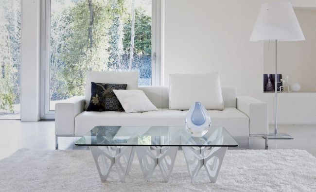 couchtisch design ideen modern glass weiss schmetterlinge, Mobel ideea