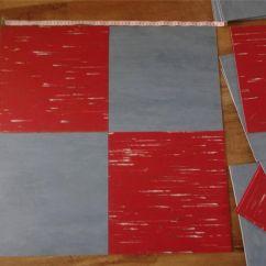 Arts & Crafts Kitchens Rooster Rugs For The Kitchen 32 X Fab Retro Vintage 1950 S Vinyl Linoleum Floor Tiles ...