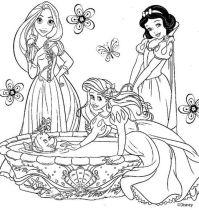 "dibujos de princesas para pintar | Princesas ""Colorear ..."