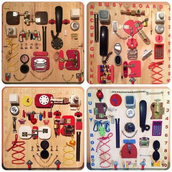 Actividad tablero ocupado tablero sensorial juguete