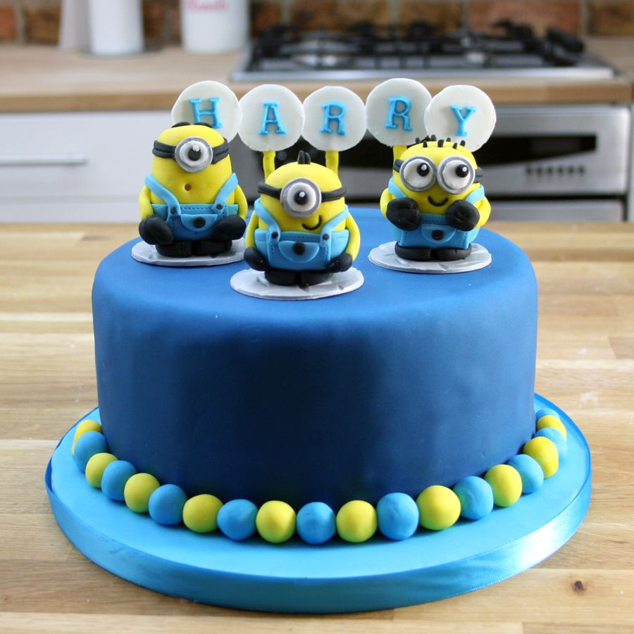 Simple Blue Minion Cake Tutorial Despicable Me Birthday