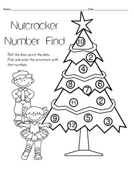 A cute holiday themed mat coloring page for stations or