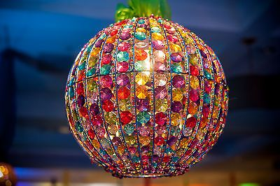 Molly N Me 14inch Orb Light Multi Color Ceiling Fixture Chandelier Pendant