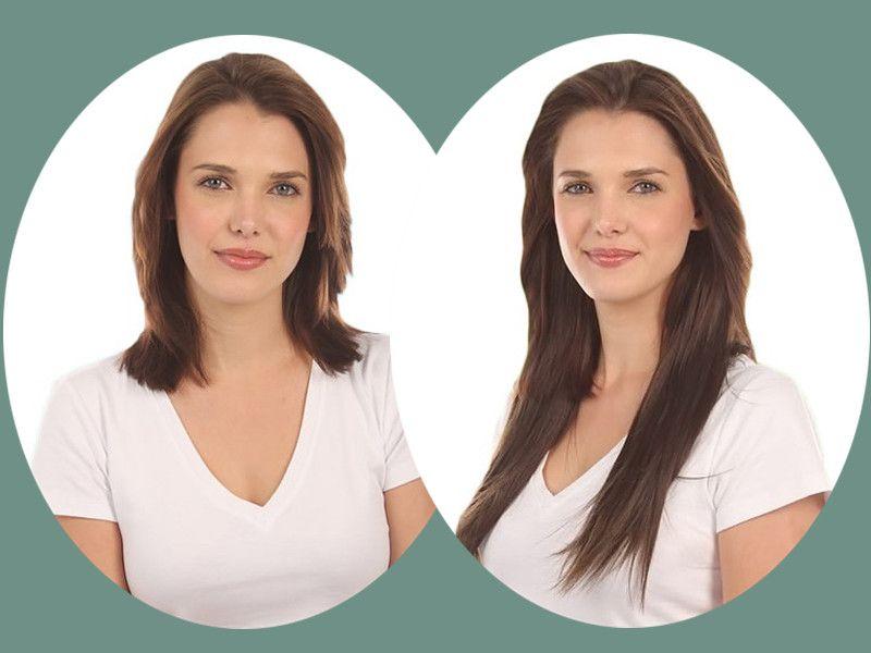Vorher Nachher Frisuren Mit Clip In Haarverlängerung Haarträume