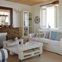 Coastal living room with shutters | Coastal living room ...