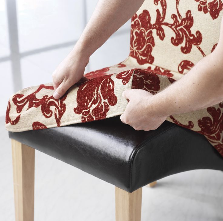 how to diy reupholster a chair sheet metal cool make dining cover | pads & cushions sewing pinterest ...
