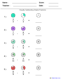 Basic Math Fractions Worksheets