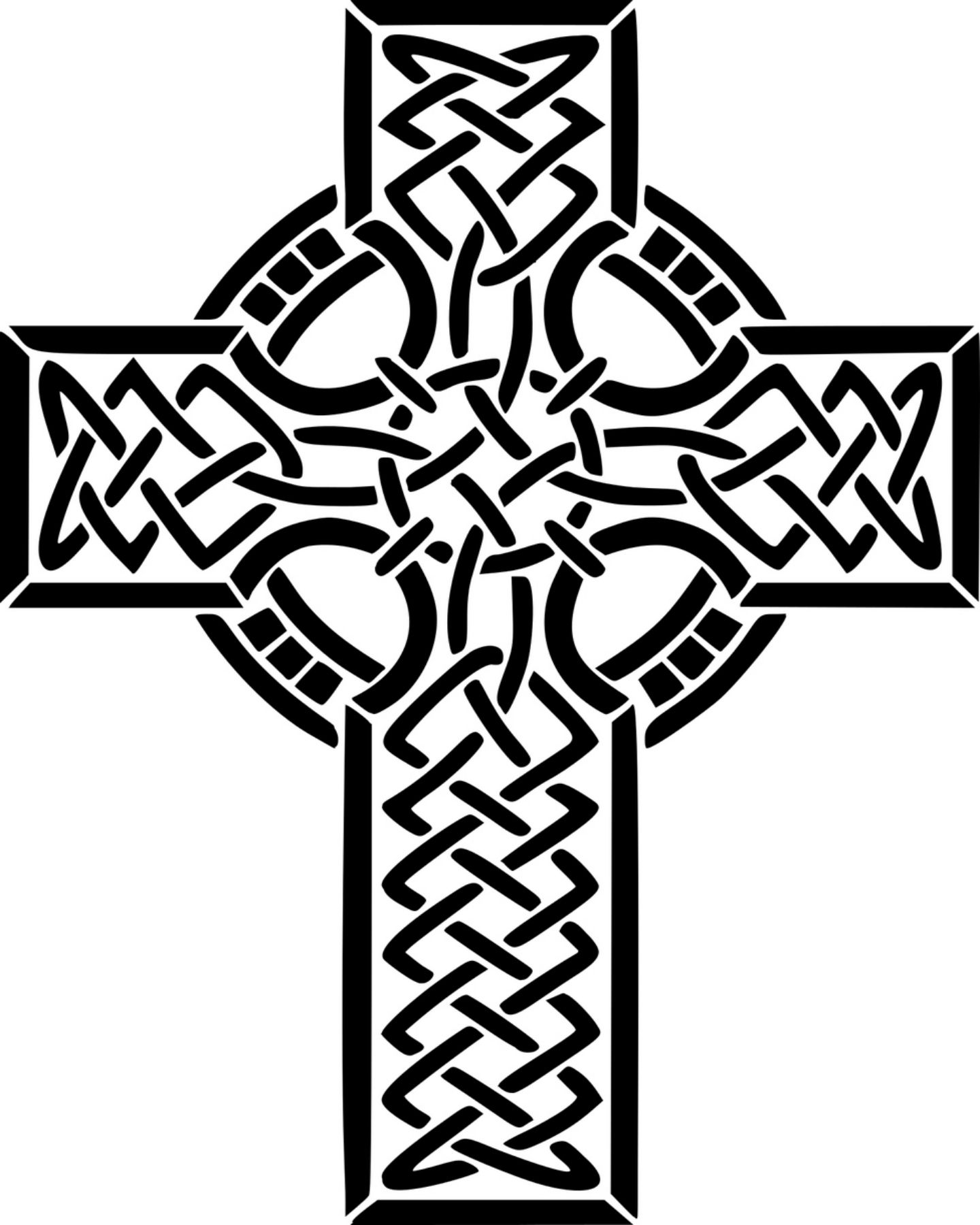 Free Celtic Cross Printable Coloring Page