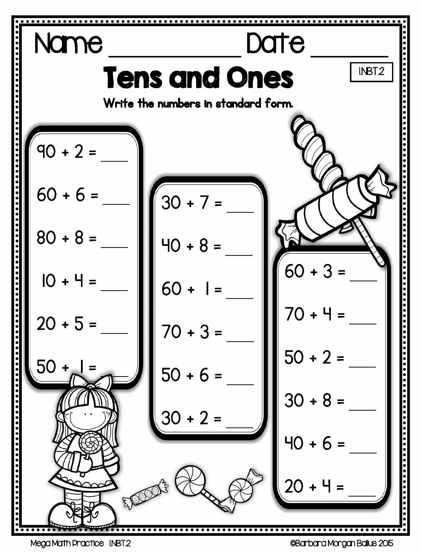 Mega Math Practice 1 Nbt 2 Digs Deeper Into The Numbers And Base Ten Standard By Giving Your