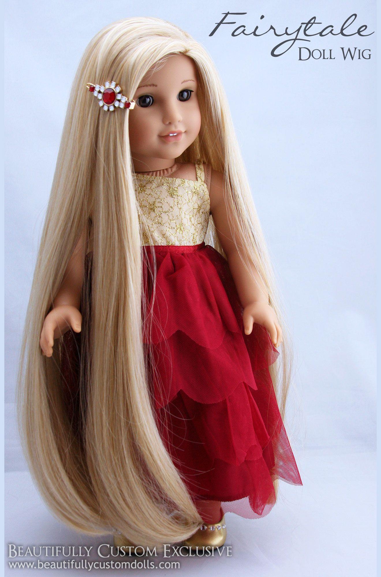 Fairytale Doll Wig for Custom American Girl Dolls in Sunrise Blonde