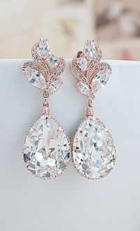 Earrings Nation   Crystal drop, Bridal jewelry and Drop ...
