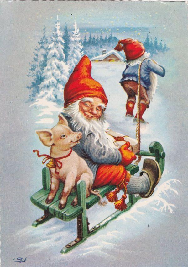 Vintage Santa Scandinavian Tomte Santas