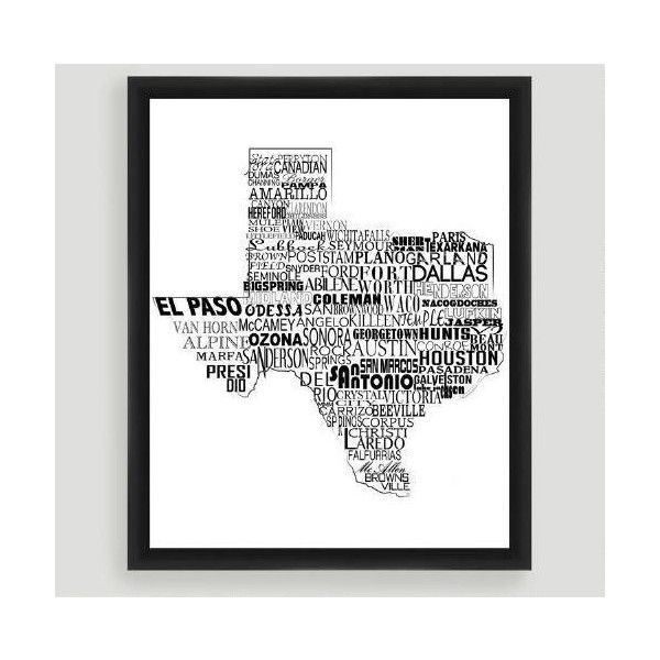 Cost plus world market texas typography wall art liked on polyvore featuring also rh pinterest