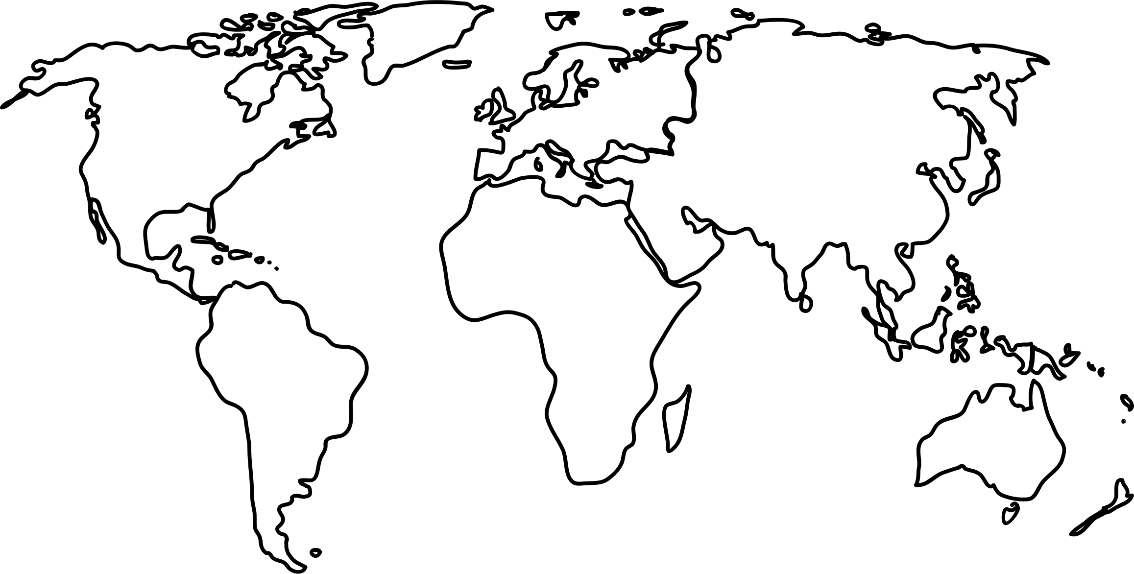 World Map By Jkarthik08 Outline World Map On