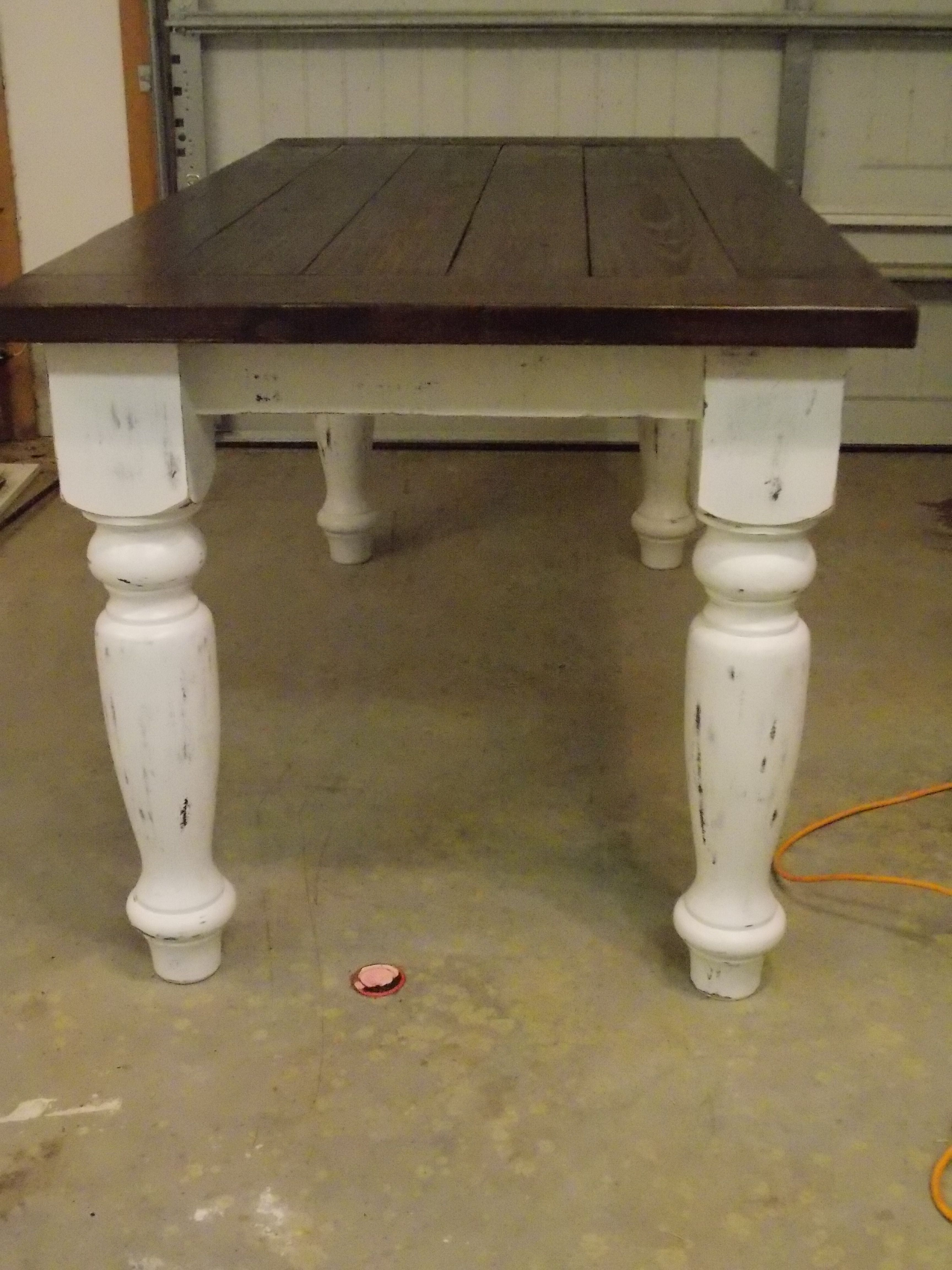 Turned Leg Farmhouse Table Plans Rustic Farmhouse Table Plans | Farmhouse Table , Turned