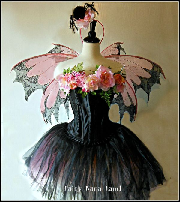 Adult Fairy Costume - Size Medium Spider Rose Faerie Dark Fairy. 325.00