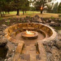 Surprising Sunken Fire Pit Drainage Photo Design Ideas ...