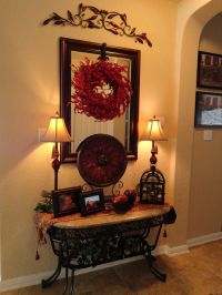LOVE!!!!!! Foyer Table - Tuscan Style, the iron accents ...
