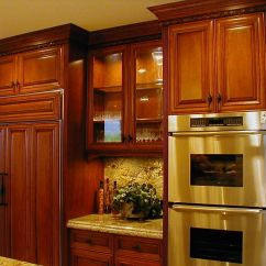 Cherry Kitchen Cabinets White Lacquer Custom Wall