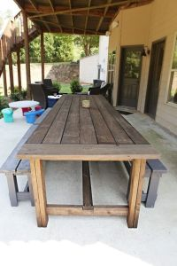 Extra Long DIY Outdoor Table | Diy outdoor table, Outdoor ...