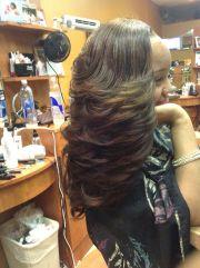 full sew-in long layers hair-natic