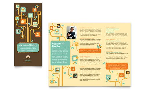 Business Services Tri Fold Brochure Template Design
