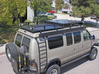 Aluminum Off Road Roof Rack and Ladder for a Ford ...