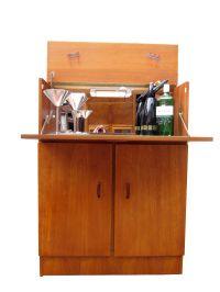 Teak Mid Century Danish Modern 1960s vintage drinks bar ...