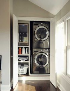 Save space with modern small laundry room ideas also for the home rh pinterest