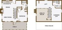 Guest House Plans with loft; I like this one because you ...
