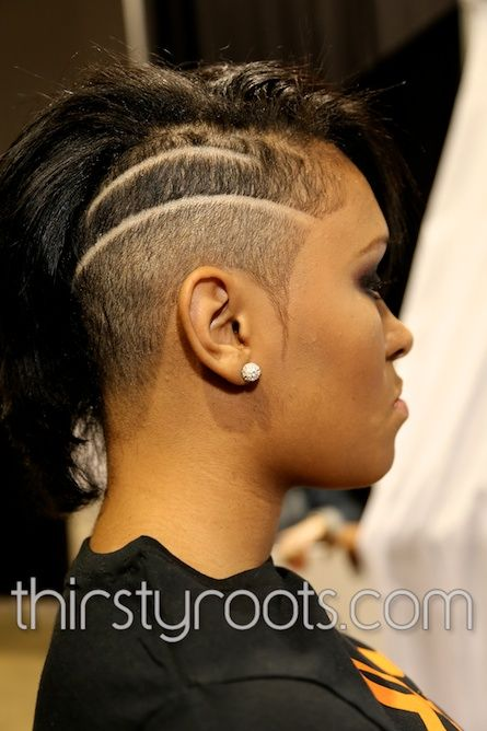 Shaved Side Haircut Black Woman Beautiful Shaved Hair Designs