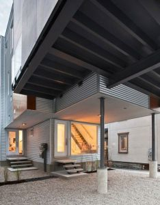 Architects also the front to back infill is  complex modern project located in rh pinterest