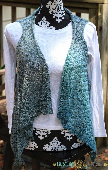 Slate Crochet Vest free crochet pattern by Busting