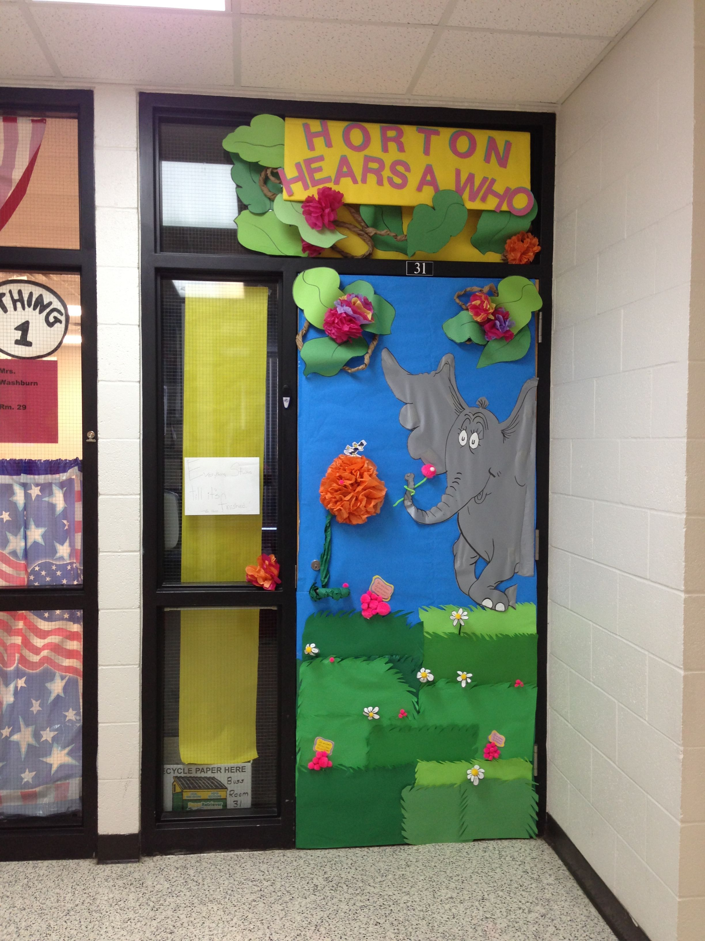 Dr Seuss Horton Hears A Who Door Decoration