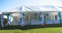 decorated party tent | we specialize in Outdoor Party ...