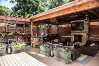 Deck Features Zones for Entertainment, Cooking, Relaxing ...