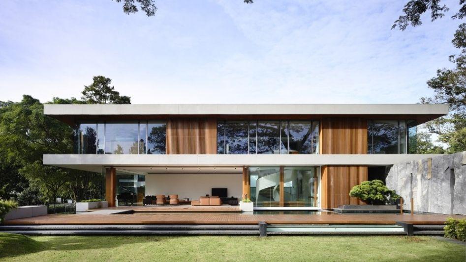 maison moderne bois beton - planbois