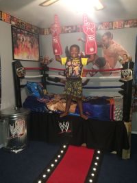 WWE Custom Bedroom - love the idea of decorating a steel ...